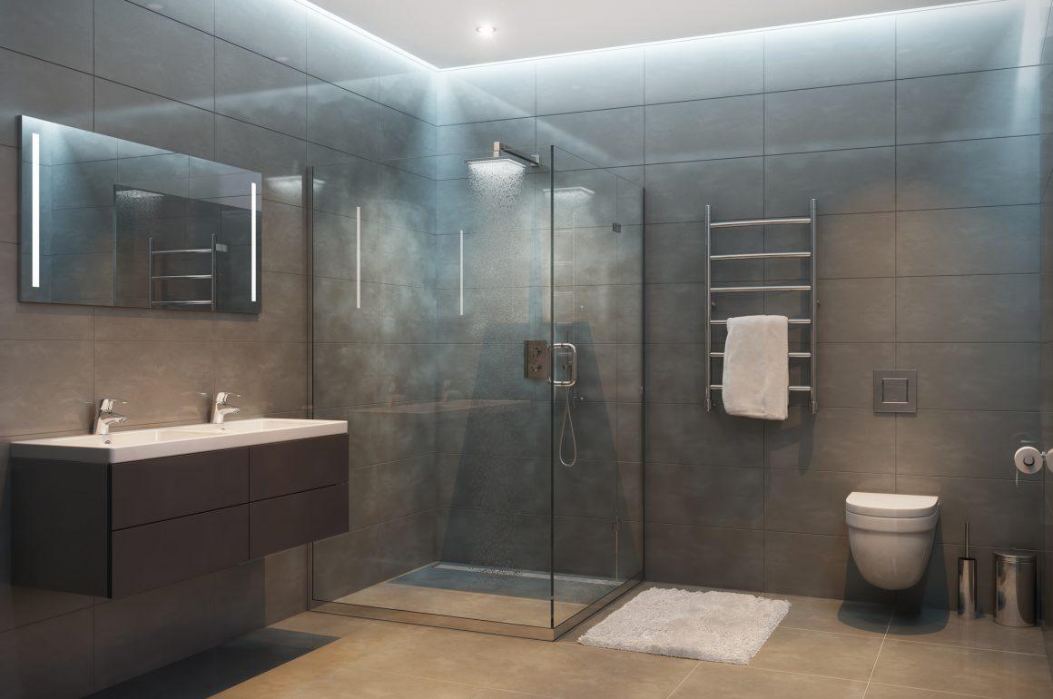 moderne stilrent Badeværelse